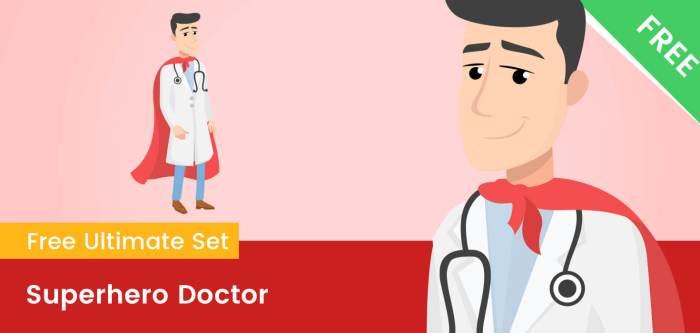 Superhero Doctor Clipart