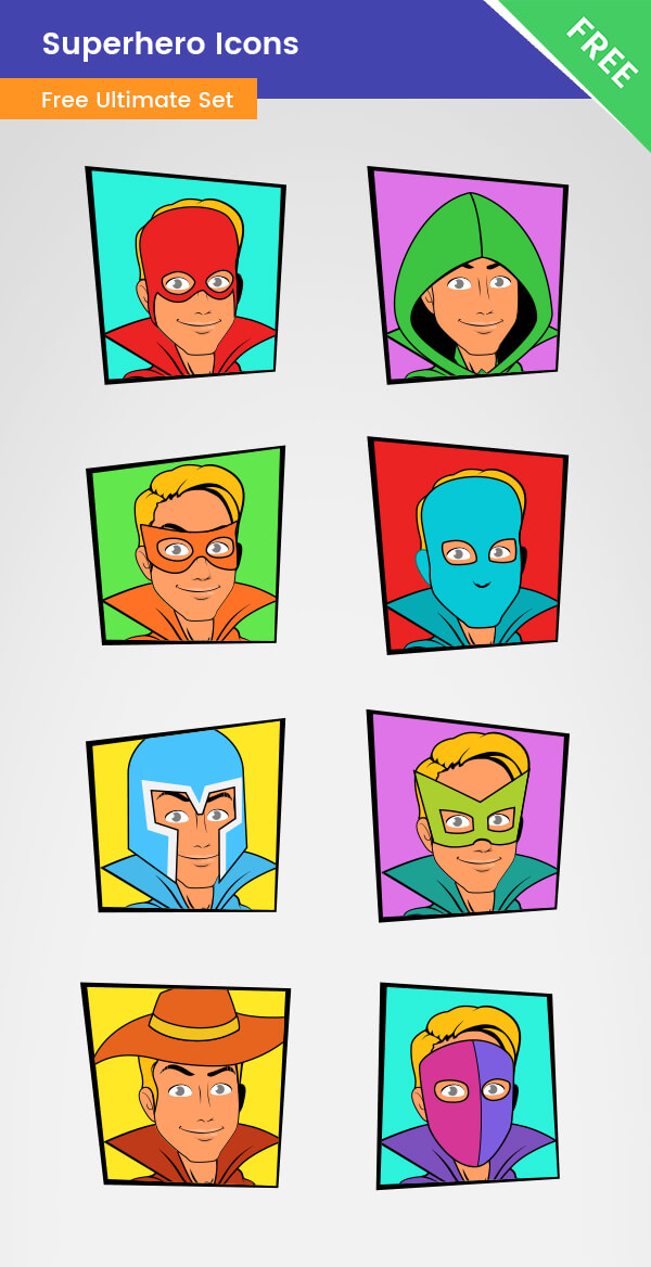 Superhero- Icons Vector