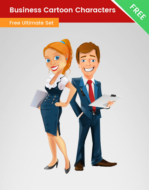 Business Cartoon Characters PNG