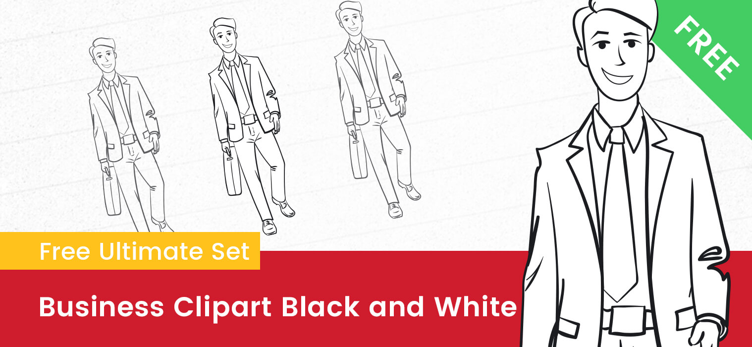 Business Clipart Black and White
