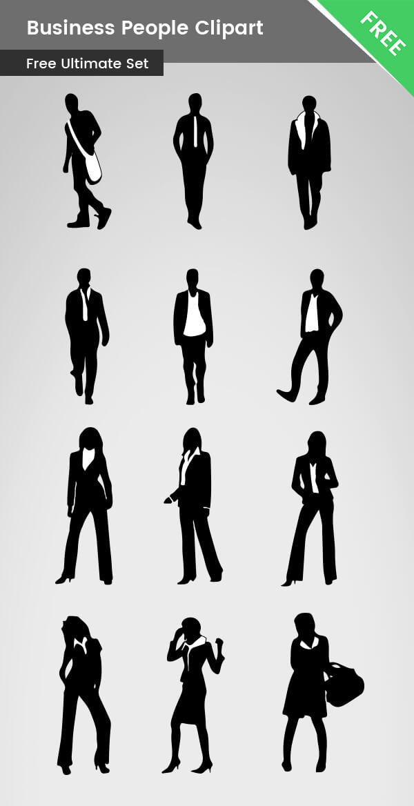 Business People Clipart silhouettes