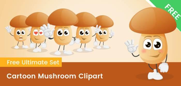 Cartoon Mushroom Clipart
