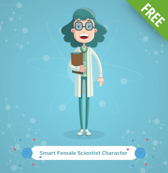 free cartoon scientist characters set