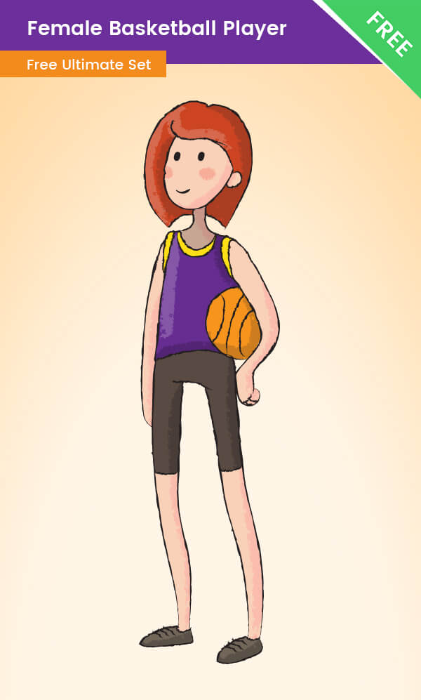 Female Cartoon Basketball Player - Free VectorCharacters