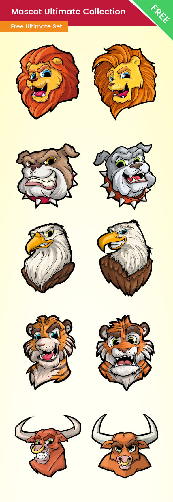 FREE Mascot Design Ultimate Collection - VectorCharacters