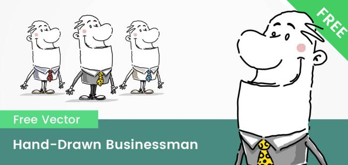 Free Businessman Hand-Drawn Vector Character