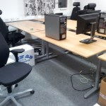 Nedplockad arbetsplats