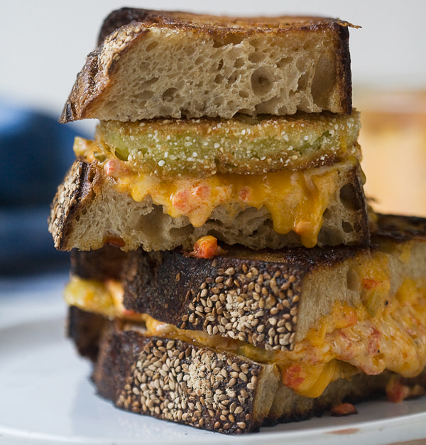 Fried Green Grilled Cheese