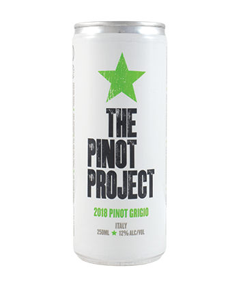 The Pinot Project Pinot Grigio is one of the best canned wines for Summer 2020