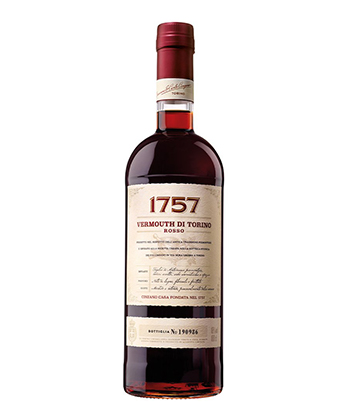 1757 Vermouth Di Torino Rosso is one of the best vermouths for mixing Negronis.