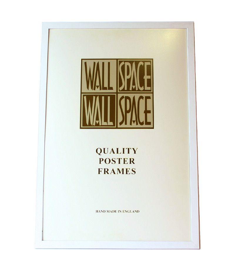 white wooden poster frame 36 x 24