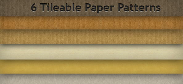 6 Tileable Paper Patterns