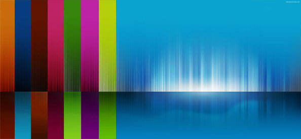 6 Light Stripes Backgrounds with Reflection
