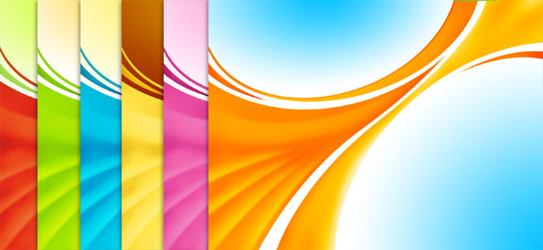 6 Abstract Waved Backgrounds
