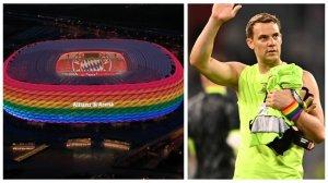 Обяснено: Защо УЕФА забрани на Алианц Арена да блести с цветовете на дъгата, но не наказва Нойер за цветната лента