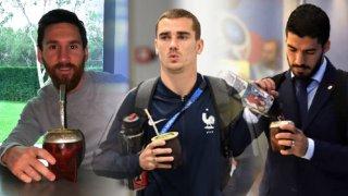 Три звезди на съвременния футбол с калабаш в ръка.