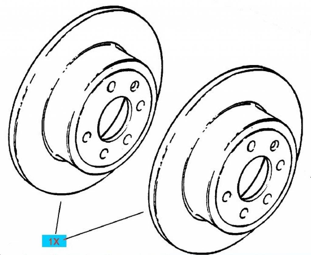 Kit Rear Brake Disc Opel Vectra B