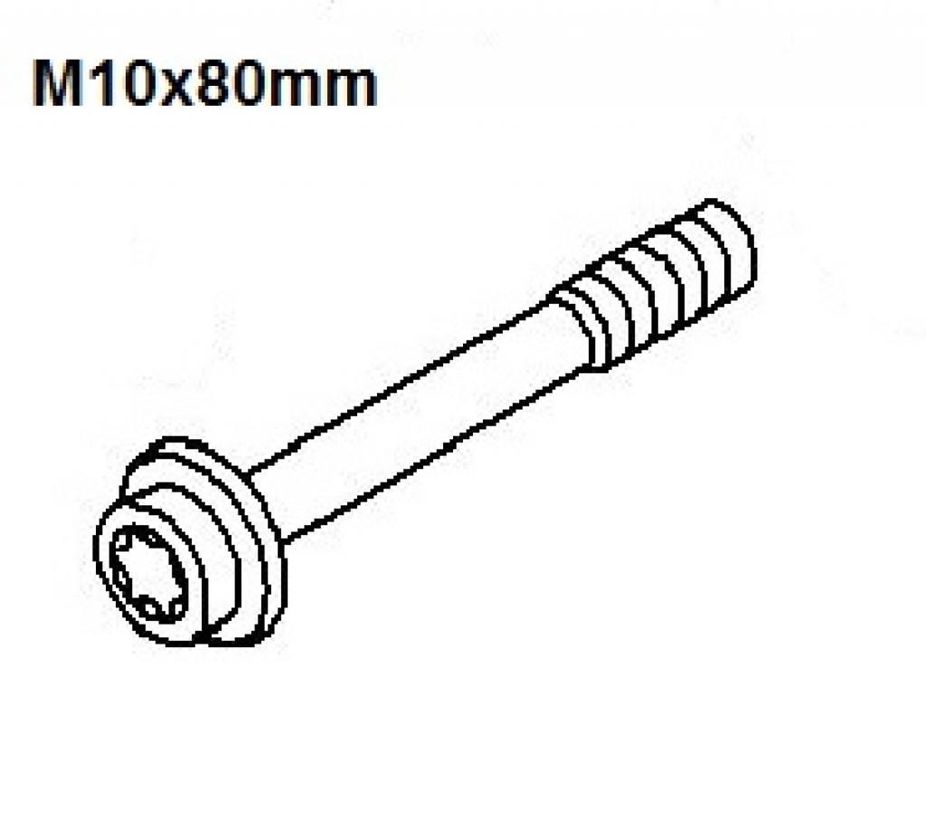Screw Torx M10x80 Opel Astra Mokka Insignia Signum Vectra