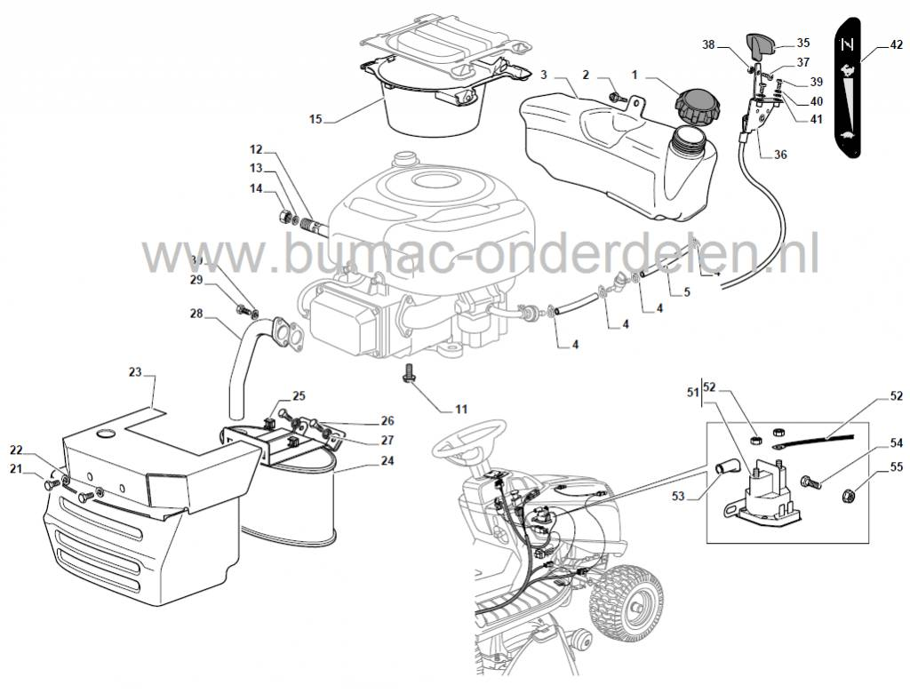 Uitlaatspruitstuk B Amp S Motoren Met 13 5 Pk Op Zitmaaiers