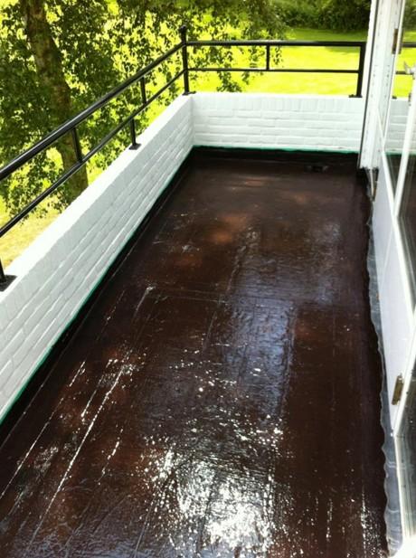 Balkon waterdicht maken met Gummil
