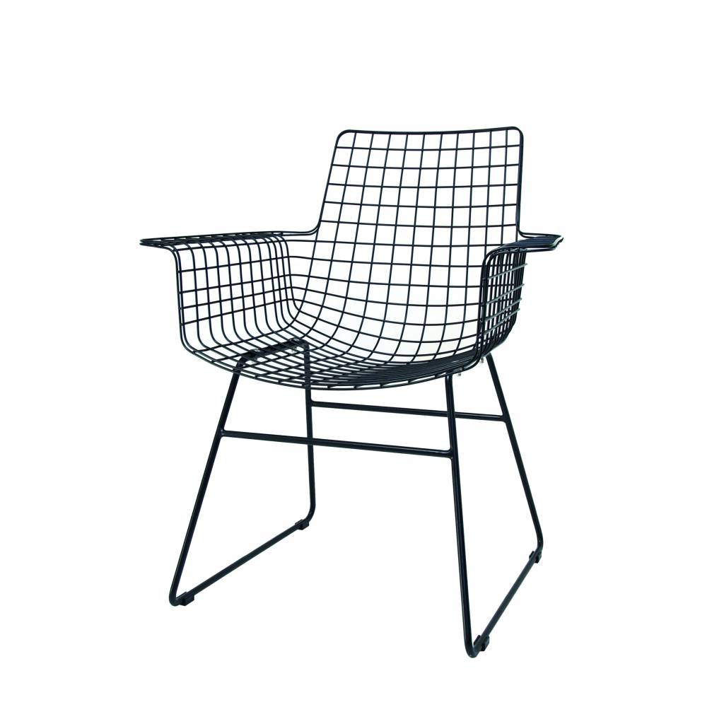 Hkliving Wire Chair With Arms Metal Black