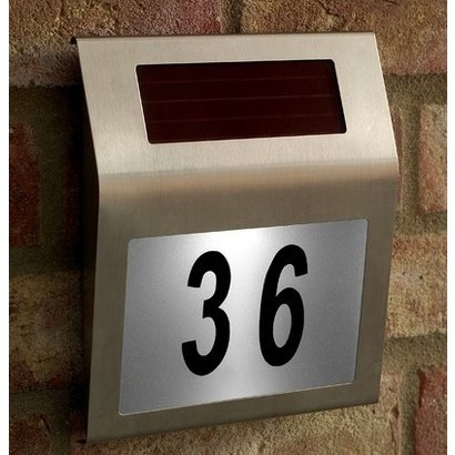Geeek Led Solar House Number Plate With Light