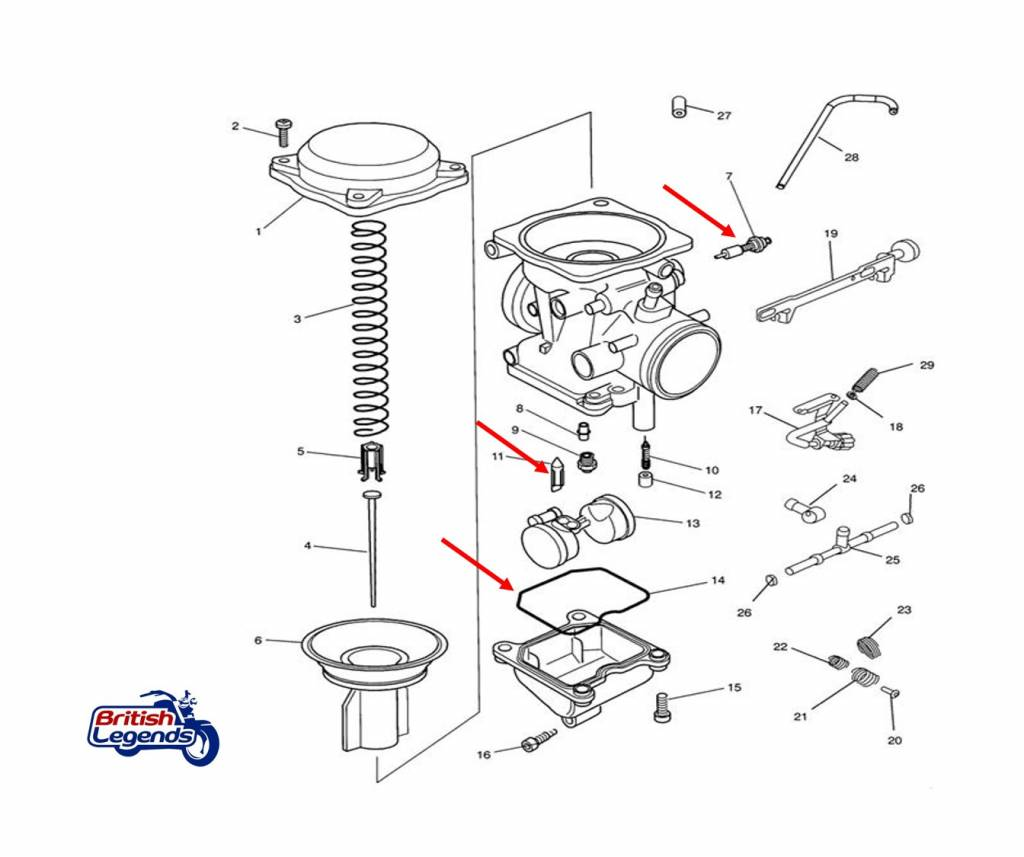 Repair Kit For Keihin Cvk Carburetor On Triumph Motorcycles