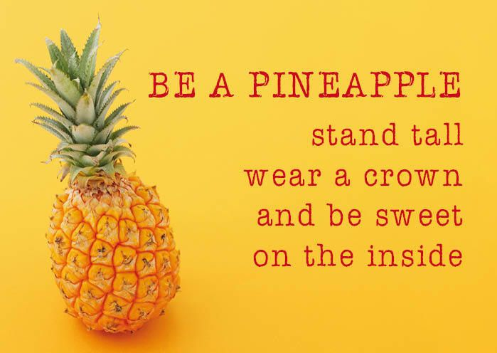 ZintenZ Postcard Be A Pineapple Things That Make You