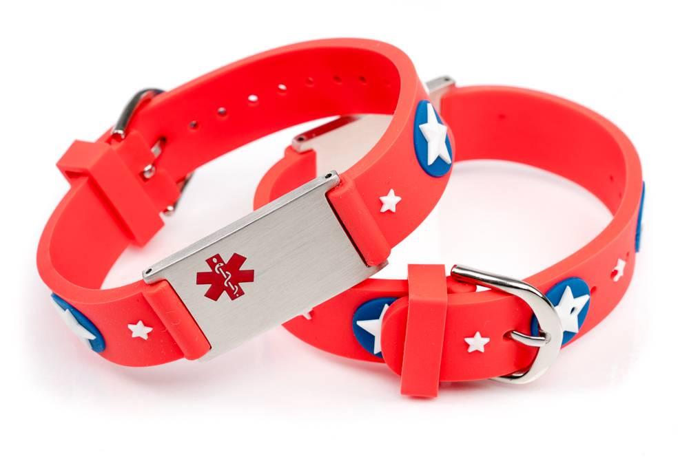 Allergy Medical alert ID bracelet kids - Icetags