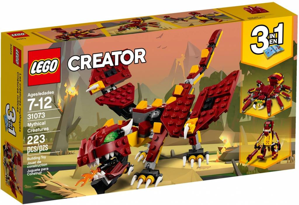 LEGO   Creator 3 in 1  Mythical Creatures 3 in 1   31073   CWJoost LEGO   Creator 3 in 1   Mythical Creatures 3 in 1