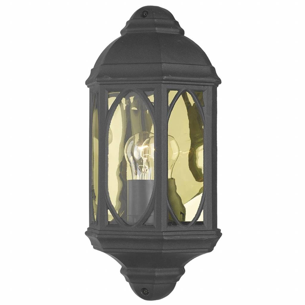 Outdoor Half Wall Lantern Black Lightbox