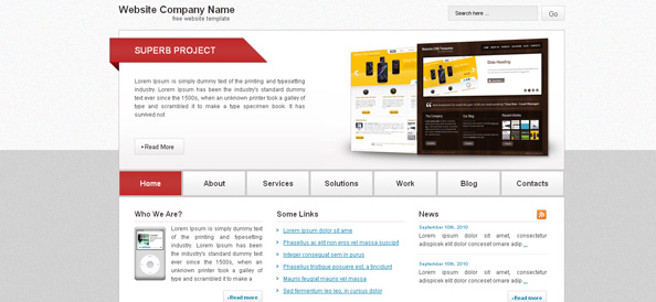 Free Website CSS Template for Business and Portfolio