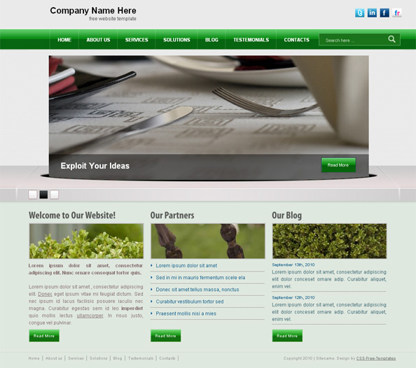 Free Css Templates Free Css Website Templates Download: CSS Template With 3D Slider Carousel