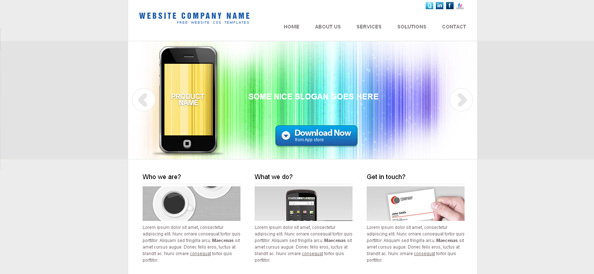 Free Portfolio Website CSS Template in Light Color Scheme