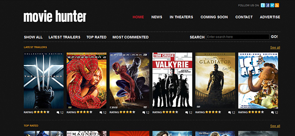 Free Website CSS Template for Movies and Entertainment - Website CSS ...