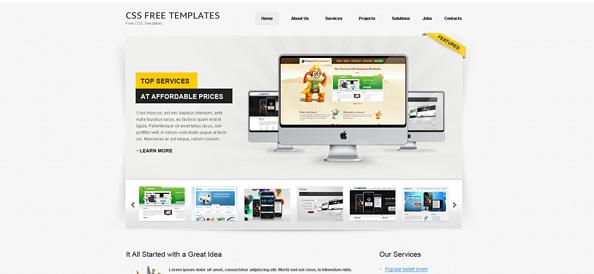 Free Website CSS Template for Personal Portfolio