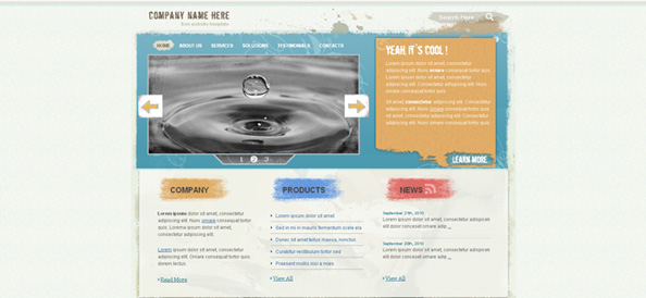 Grunge Website CSS Template