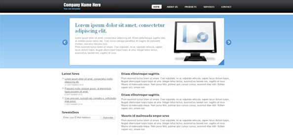 Simple Website CSS Template