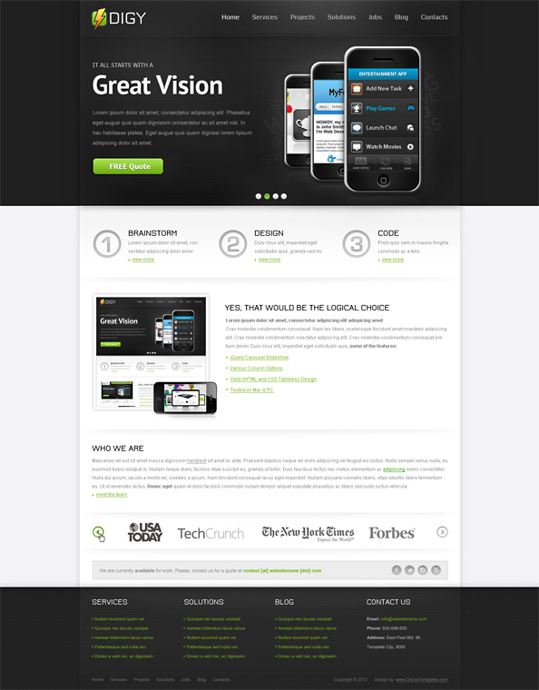 Free Responsive Template Digy Preview Full