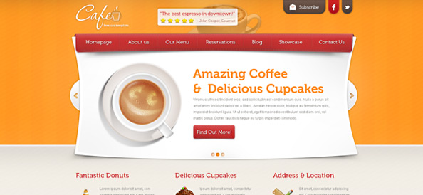 Restaurant Template – Cafe
