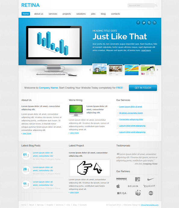 Responsive Website Template Preview