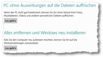 PC-Einstellungen Windows 8