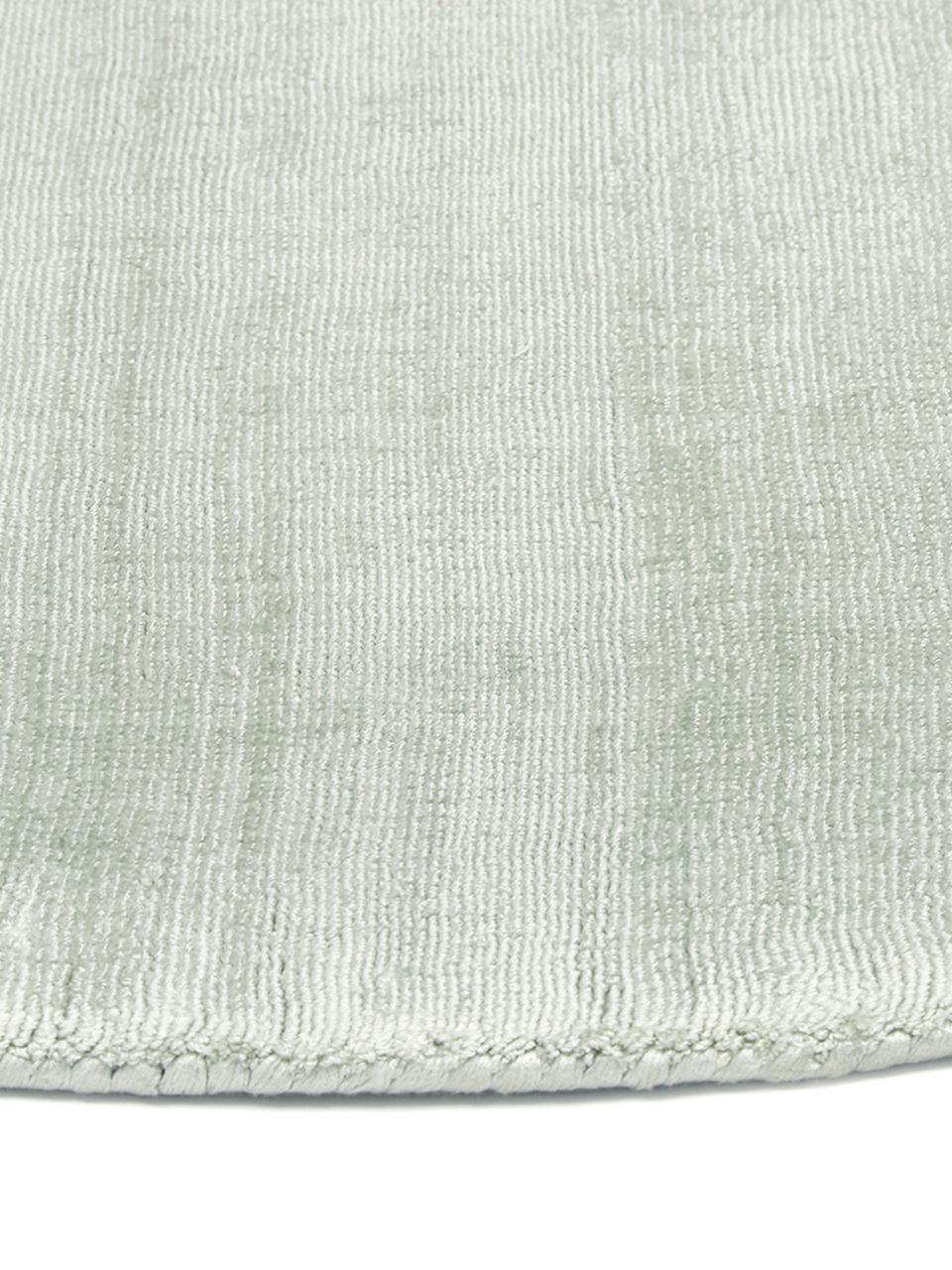 tapis rond en viscose vert menthe jane