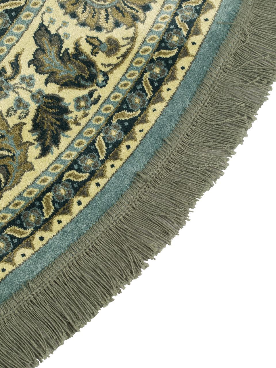tapis rond vintage vert bodega