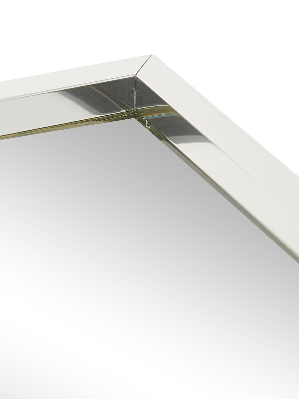 miroir mural rectangulaire avec cadre argente alpha