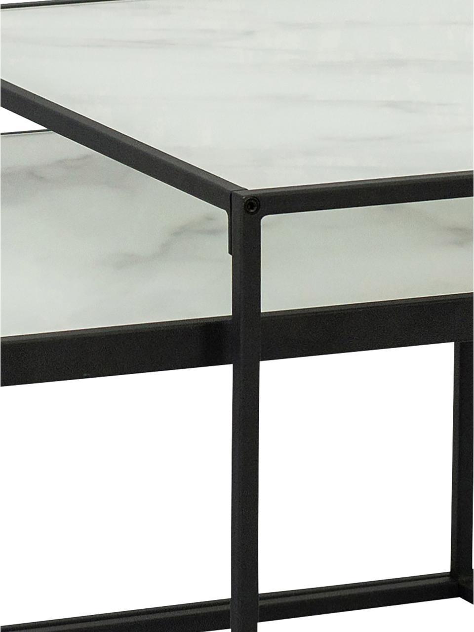 table basse avec plateau en verre bolton 2 elem