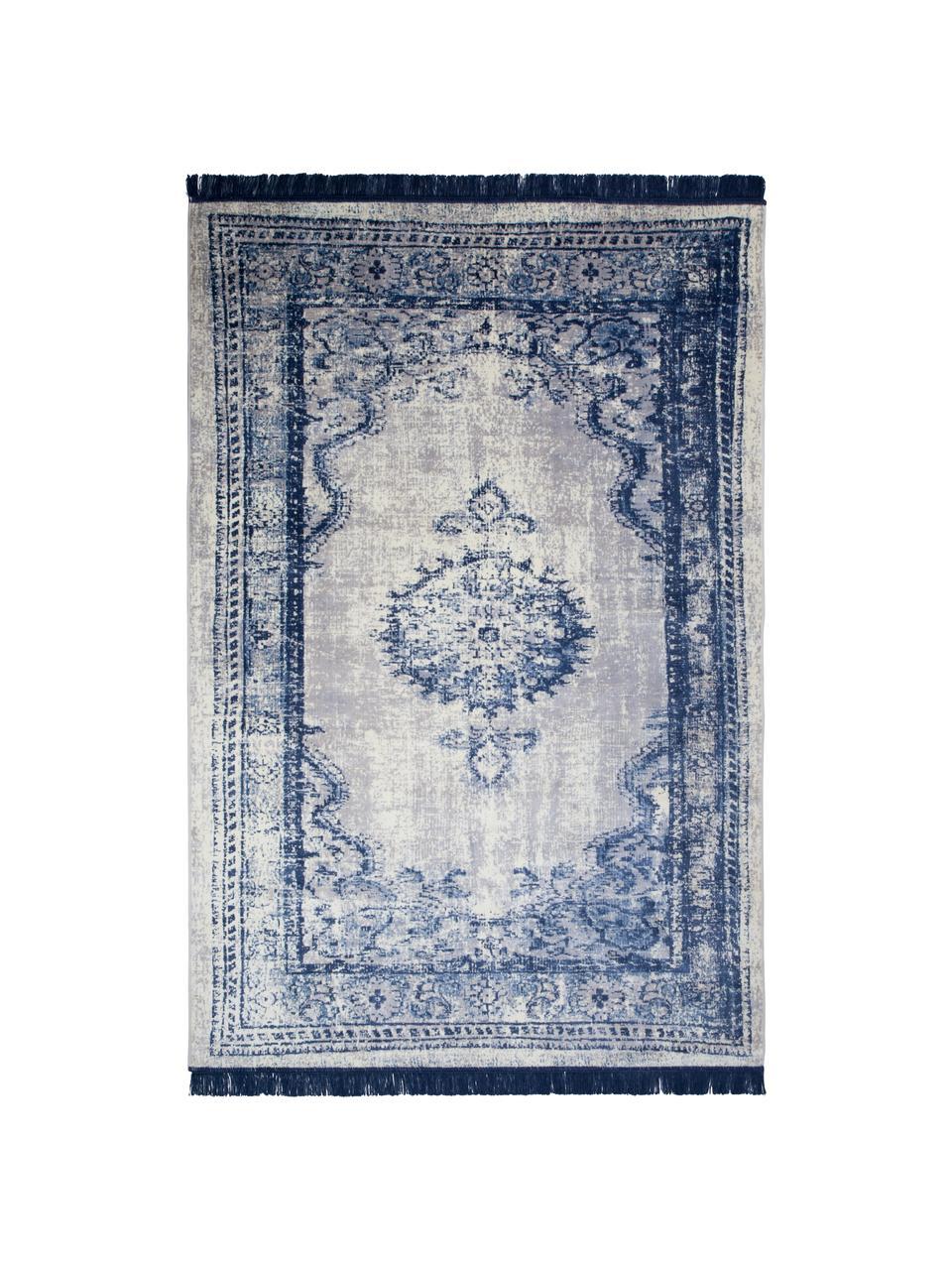 tapis vintage bleu beige marvel