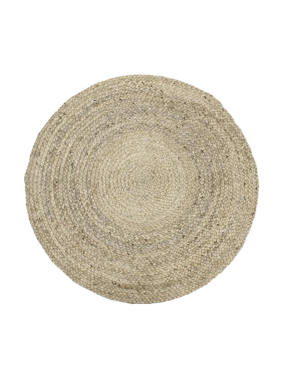tapis rond beige en jute fait main sharmila