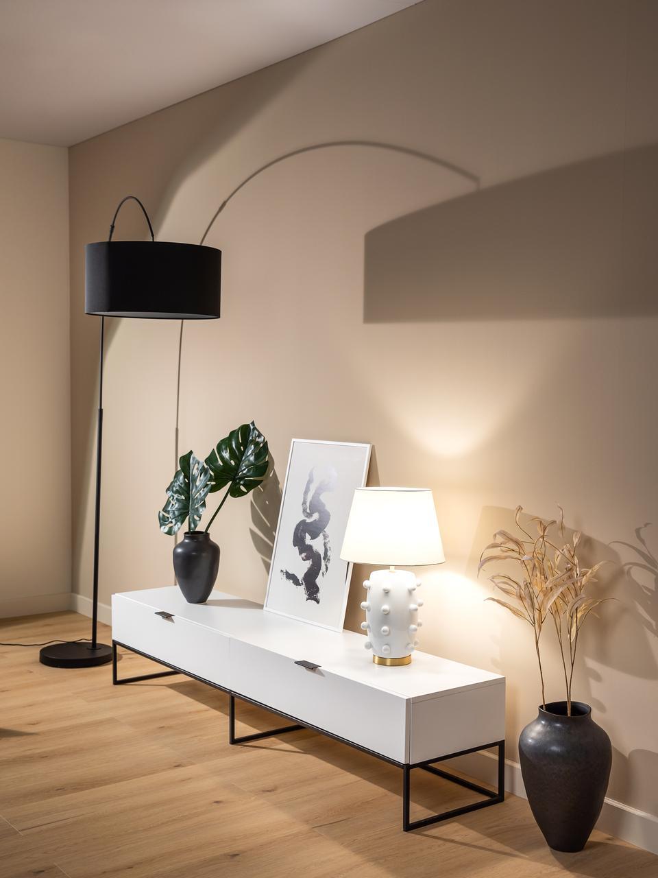 meuble tv blanc avec tiroir kobe