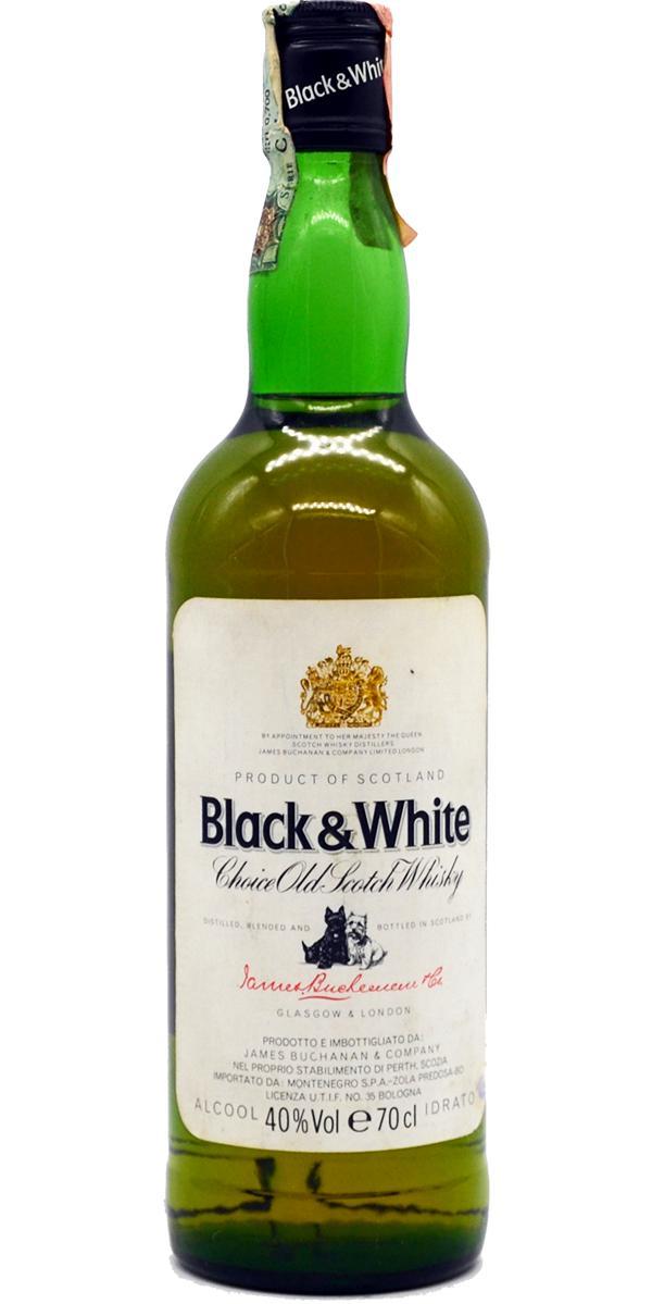 Scotch Vintage Black Whiskey White